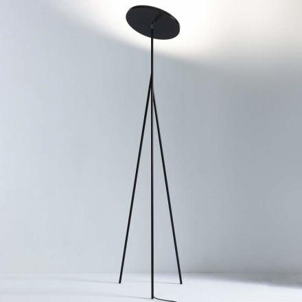 Design-LED-uplight-golvlampa Faro, svart 198 cm