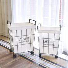 Laundry basket wrought iron Large hamper Dirty clothes storage basket Portable home toys clothing storage organizers WF109