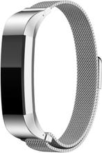 Fitbit Alta klokkereim av rustfritt stål m. magnet - Sølv