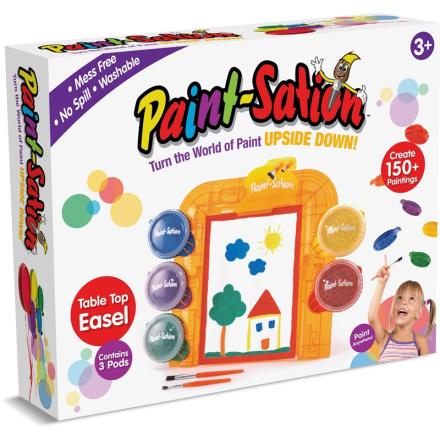 Paint-StationPaint-Sation, Dryppfri maling, Startsett med staffeli, maling og pensler