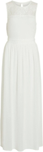 VILA Lace, Sleeveless Maxi Dress Women White