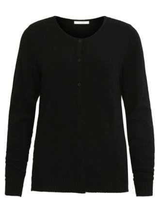 VILA Simple Knitted Cardigan Women Black