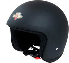 Tommy Motorcykelhjälm T2000 Classic, matte black, large MC-tillbehör