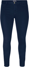 JUNAROSE Basic Slim Fit Jeans Women Blue