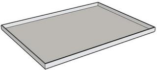 Toplade stål 500/05 530x500 RAL 9002