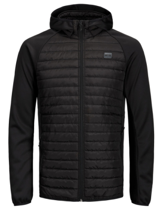 JACK & JONES Multi Quilted Jacket Men Black
