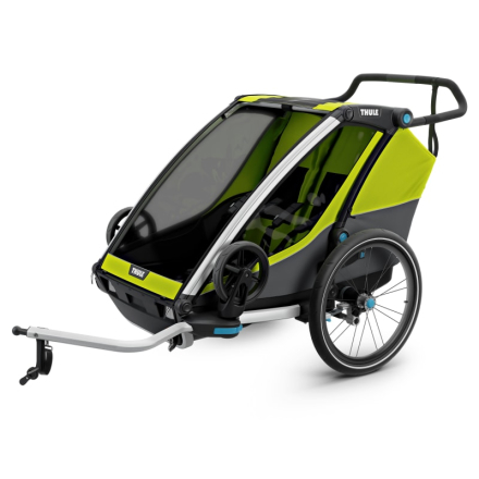 Thule Chariot Cab 2 Cykel- & Barnvagn Gul OneSize