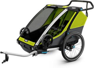 Thule Chariot Cab 2 sykkel- & barnevogner Gul OneSize