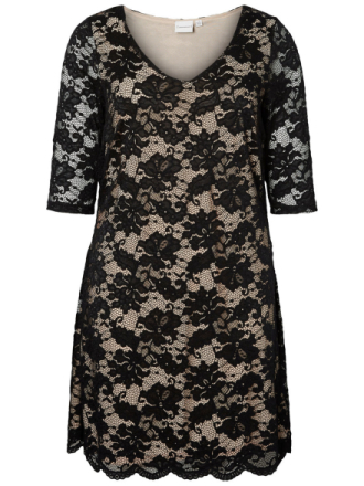 JUNAROSE Lace Dress Women Black