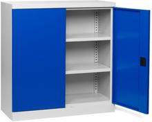Verktygsskåp med 2 hyllor och låsbara dörrar B1000 D435 H1040