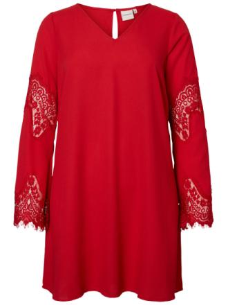 JUNAROSE Woven Dress Women Red