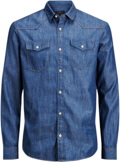 PRODUKT Denim Slim Fit Long Sleeved Shirt Man Blå