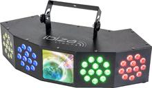 Ibiza Starwash 3-i-ett ljuseffekt med DMX