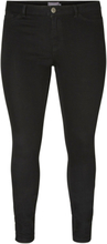 JUNAROSE Basic Slim Fit Jeans Women Black