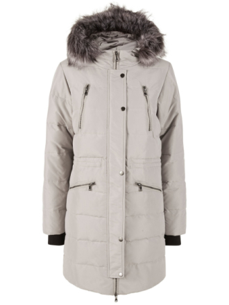 Y.A.S Warm Winter Jacket Women Beige