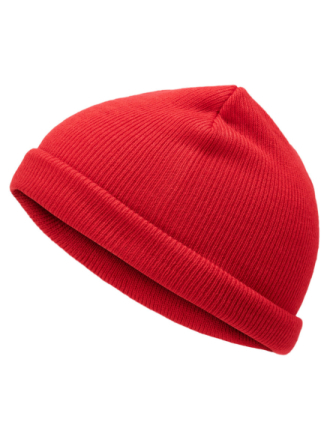 JACK & JONES Short Beanie Men Red