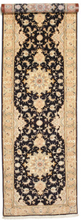 Tabriz 50 Raj med silke matta 92x337 Persisk, Avlång Matta