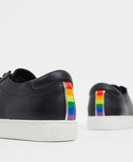 Kenneth Cole kam pride trainers in black leather