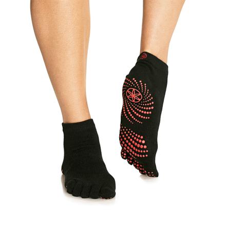 Gaiam Grippy No-Slip Yoga Strømper Pink