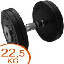 Eurosport Faste Black Metal Håndvægte 22,5kg (2 stk.)