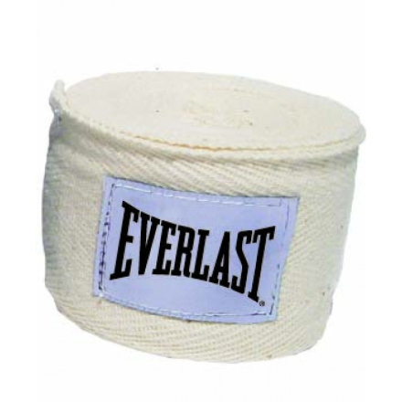 Everlast 3m Cotton/Spandex Blend Wraps Boksebandage Natural