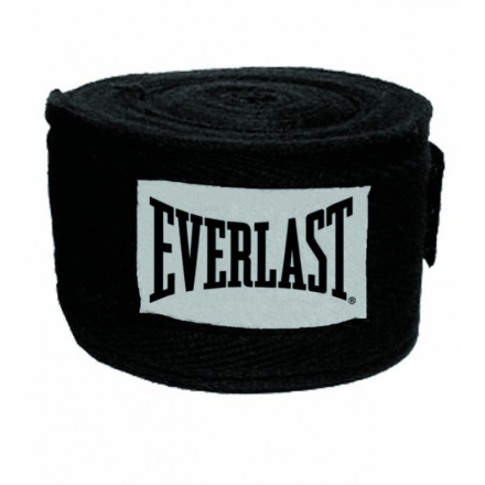 Everlast 3m Cotton/Spandex Blend Wraps Boksebandage Sort