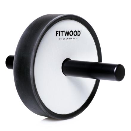 FitWood Kjerag Ab Wheel - Hvid Træ / Sort Alu. Håndtag / Sort Ring