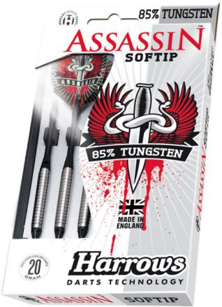 Harrows Softip Assassin 85% Tungsten Softtip Dartpile