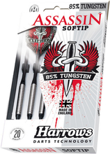 Harrows Softip Assassin 85% Tungsten Softtip Dartpile 20g