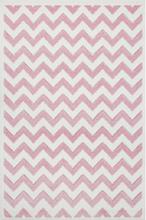 Livone Kids Love Rugs Linus -leikki ja lasten matto - vaaleanpunainen / valkoinen, 100 x 150 - roosa/pinkki
