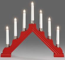 Konstsmide 1041-510 Elljusstake 7 ljus röd