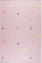 Livone Happy Rugs Lastenhuoneen matto, Love you Dots roosa/värikäs, 140 x 190 cm - monivärinen