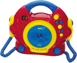 AEG sing along CD-afspiller CDK 4229 rød