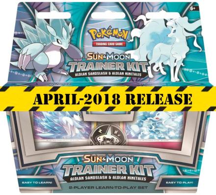 Pokemon Sun & Moon Trainer Kit 2018 Alolan Sandslash & Alolan Ninetales