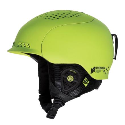 K2 Diversion Helmet Skihjelm Grøn (w/audio) - Apuls