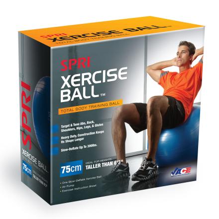 SPRI Xercise Gymnastikbold 75cm (Inkl. Trænings DVD & Pumpe)