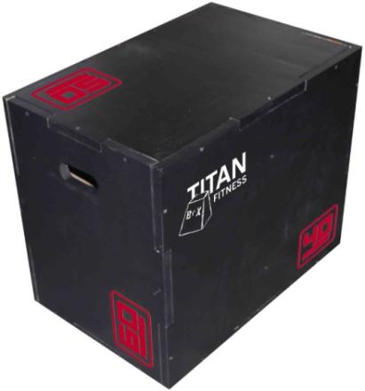 Titan Fitness Titan BOX Plyometric Crossfit 3-in-1 (40cm, 50cm & 60cm)
