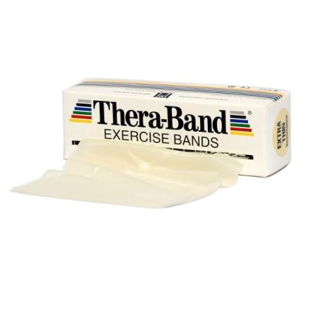 Thera-Band Træningselastik Bånd Level 0 Ekstra Let Beige 5,5m - Apuls