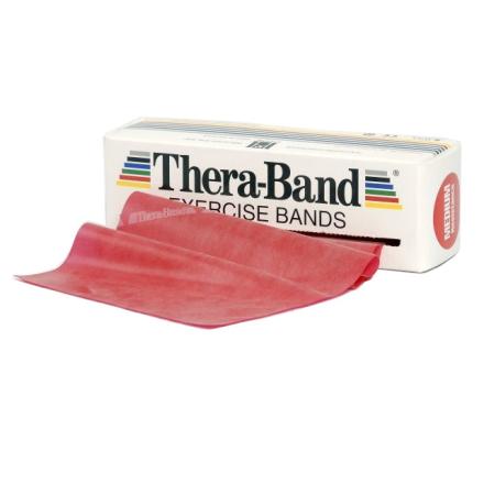 Thera-Band Træningselastik Bånd Level 2 Medium Rød 45,5m - Apuls