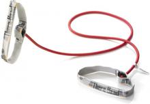 Thera-Band Træningselastik Level 2 Medium 1,4m Rød (Inkl. håndtag)