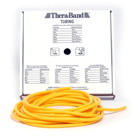 Thera-Band Tubing Level 1 Let Træningselastik Gul 30,5m - Apuls