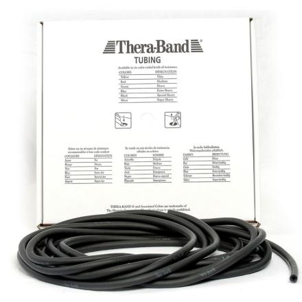 Thera-Band Tubing Level 5 Speciel Hård Træningselastik Sort 30,5m - Apuls