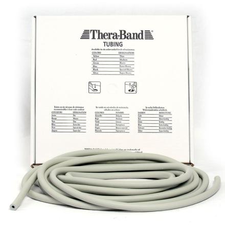 Thera-Band Tubing Level 6 Super Hård Træningselastik Sølv 30,5m - Apuls