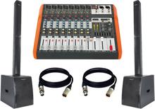 BST aktivt lydsystem med 8 kanals mixer med bluetooth