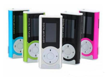 MP3-afspiller med højttaler system-sølv