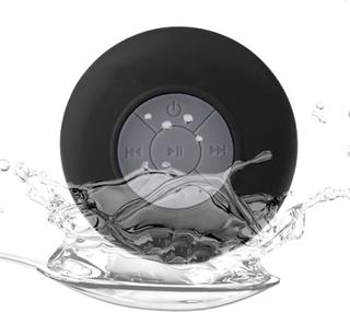 Vandtæt Bluetooth-højttaler med sugekontakt (sort)
