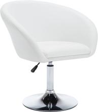 vidaXL Snurrbar matstol vit konstläder