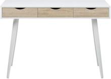 Neptun skrivebord hvid/træ - mindre fejl (B92)