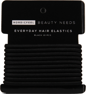 Kjøp Everyday Hair Elastics, Black 10 Pcs NordicFeel Beauty Needs Hårstrikker & Hårbånd Fri frakt