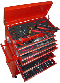 Verktøyvogn med verktøy 7 lag